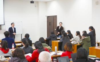 大連日本語教師会の例会にて講演